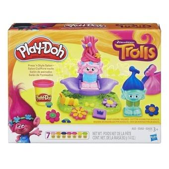 Hasbro Modelína Play-Doh Trolls vlasový salón 7 kelímků 392g