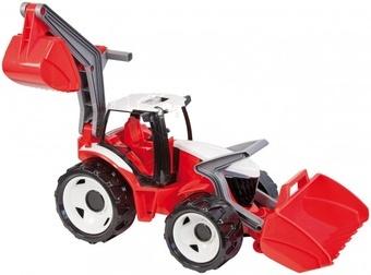 LENA Traktor se lžící a bagrem plast červeno-bílý 65cm od 24 měsíců