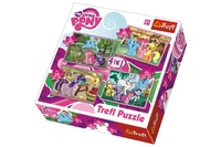 Puzzle 4v1 My Little Pony v krabici 28x28x6cm