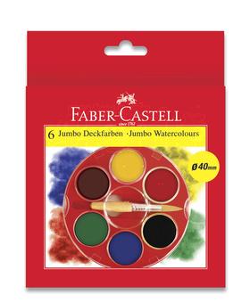 Vodové barvy Faber Castell JUMBO 6 základních barev