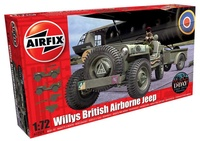 Airfix Classic Kit military A02339 Willys Jeep, Trailer & 6PDR Gun 1:72