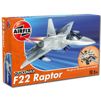 Airfix Quick Build letadlo J6005 Lockheed Martin Raptor