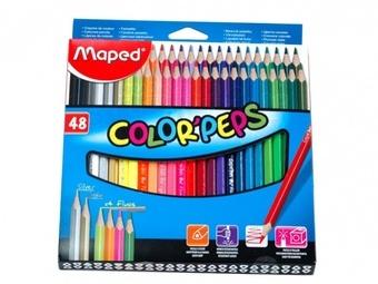 Pastelky Maped trojhranné 48 ks