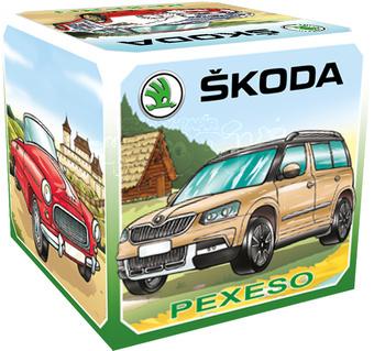 TOJEMI Pexeso Auta Škoda v krabičce