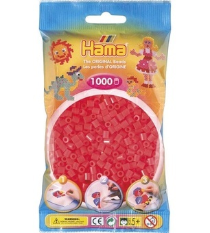 HAMA Zažehlovací korálky MIDI Neonově červené korálky