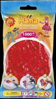 HAMA Zažehlovací korálky MIDI červené