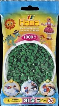 HAMA Zažehlovací korálky MIDI zelené
