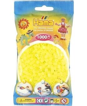 Hama Zažehlovací korálky MIDI neónové žluté 1000ks H207-34