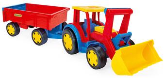 WADER 66300 Traktor Gigant nakladač s vlečkou