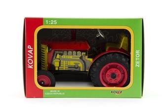 Kovap Traktor Zetor kov 14cm 1:25 v krabičce